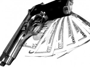 Gun and Money Image