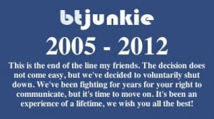 BTJunkie Closed