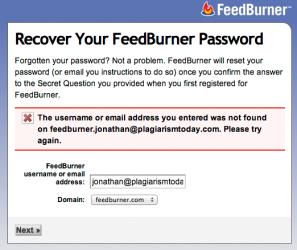 FeedBurner Password
