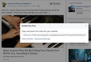 Attribution and Citation on Facebook Image