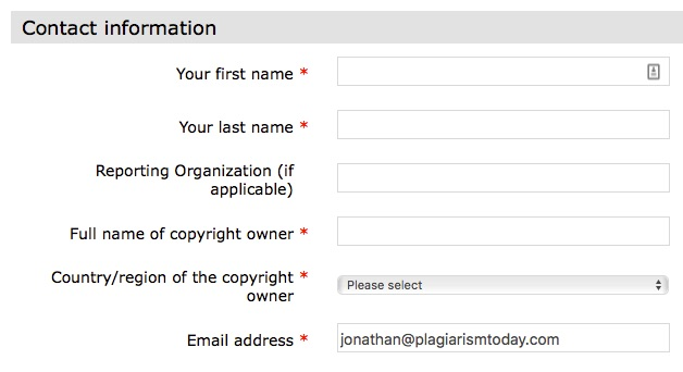 Bing DMCA Contact