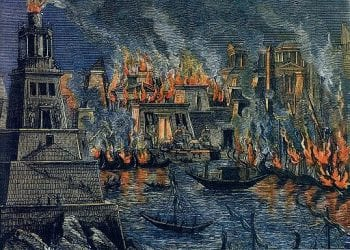 Library of Alexandria Burning